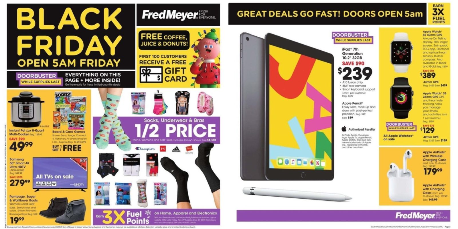 Fred Meyer Black Friday Ad 2019: Latest 10.2-inch iPad $239, Apple Watch from $129, more
