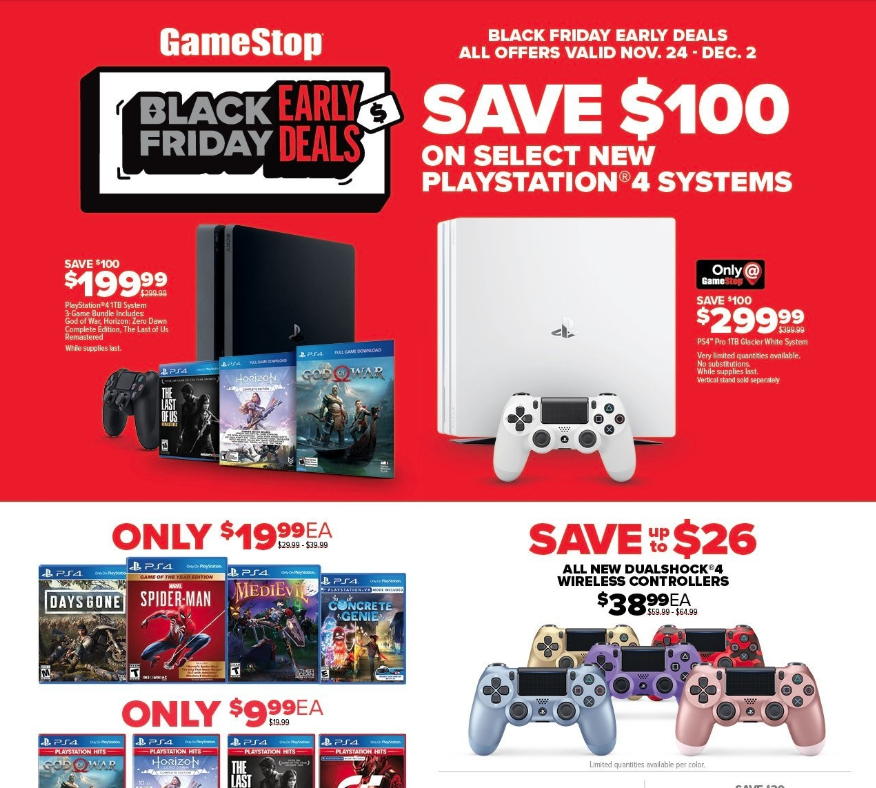 Playstation 4 Pro Black Friday 2019 Cheaper Than Retail Price Buy Clothing Accessories And Lifestyle Products For Women Men