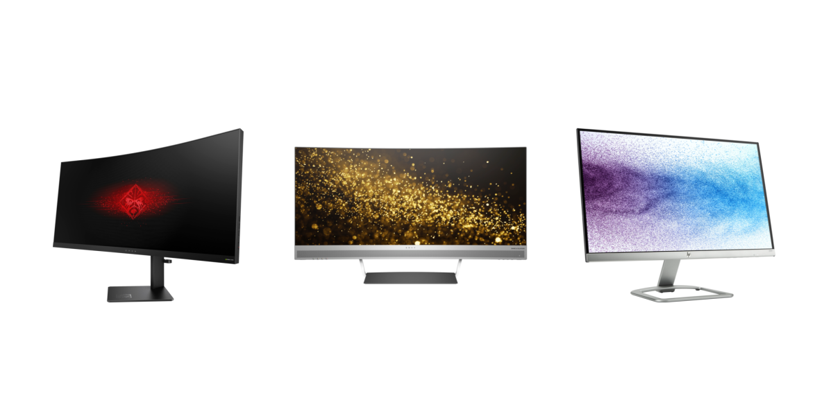HP curved displays