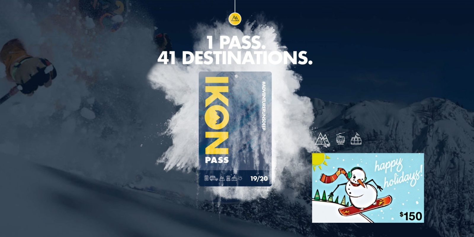 Score a free $150 Amazon gift card with your Ikon Adult Ski and Snowboard Pass