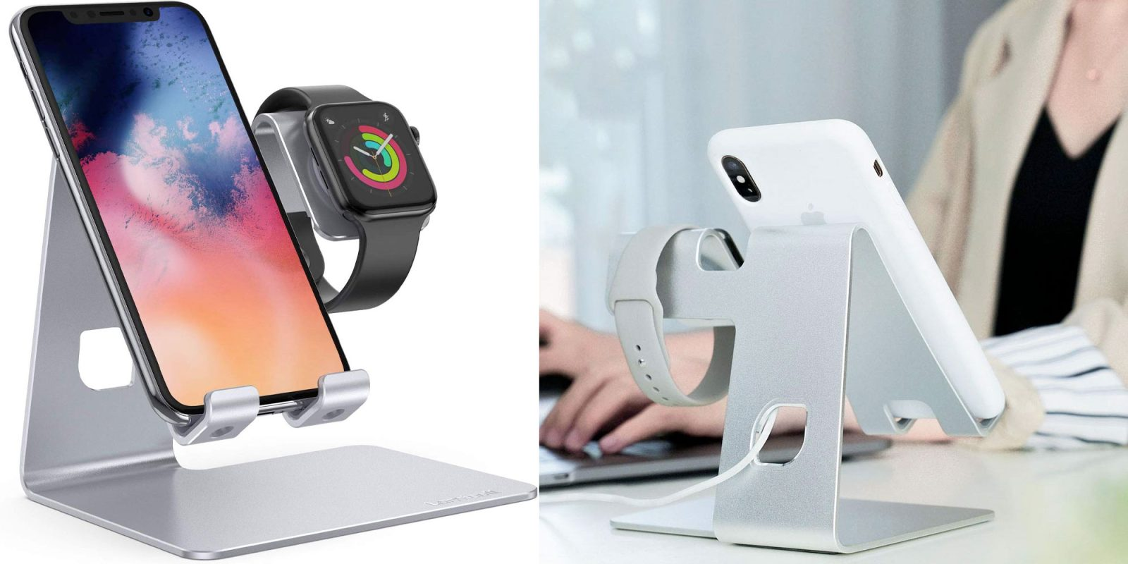This $9.50 iPhone and Apple Watch dock can charge and display your devices