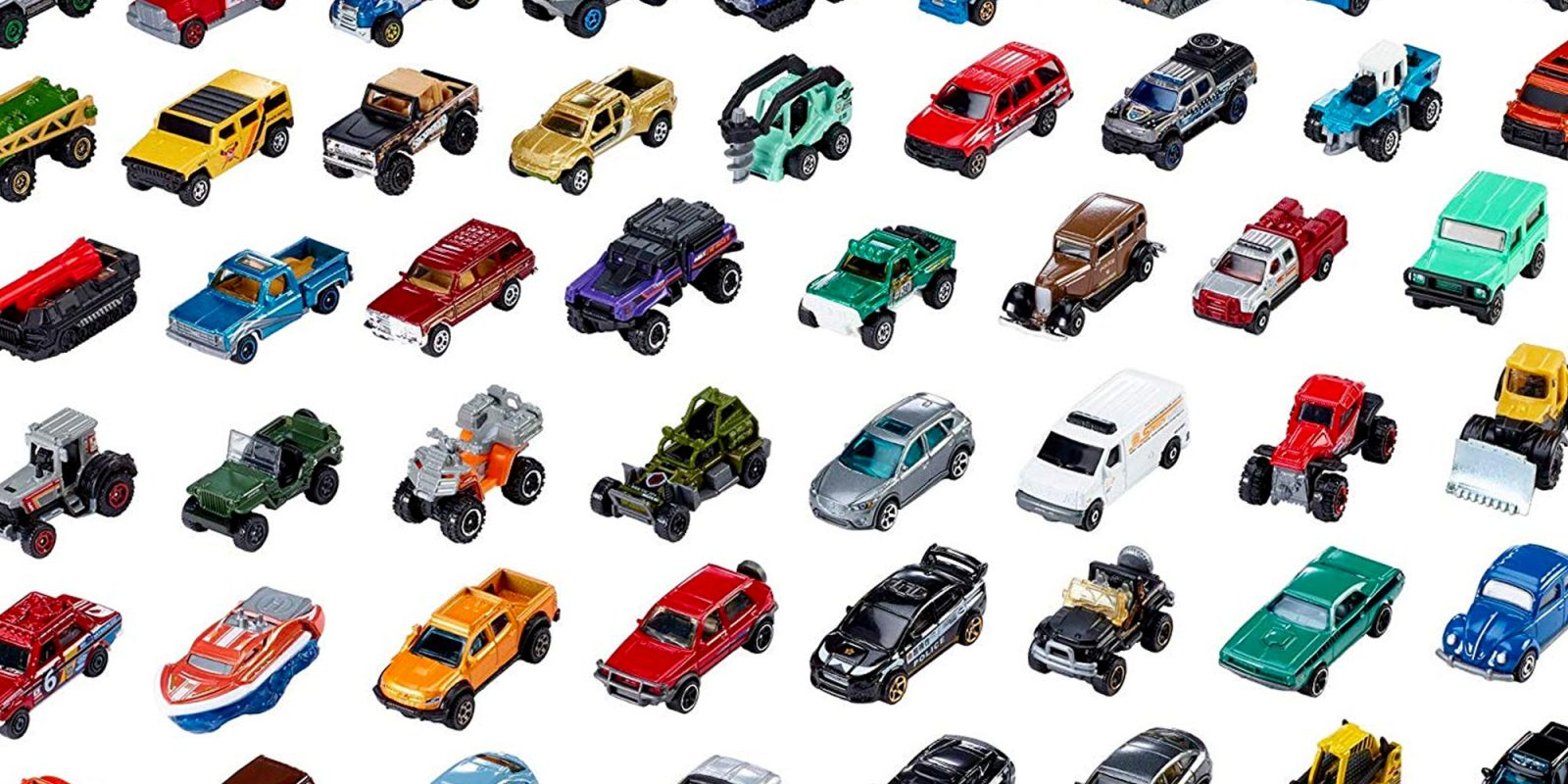 Expand your vehicle collection with 50 Matchbox cars for $0.60 a piece