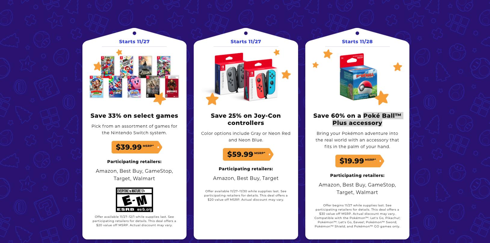 Nintendo Black Friday bundle and game deals