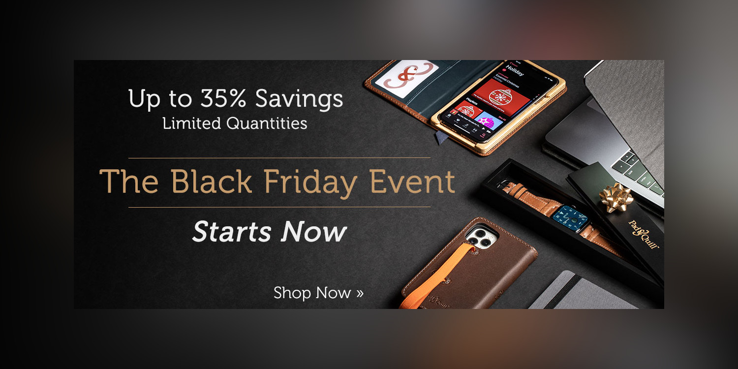 Pad & Quill Black Friday sale: Up to 35% off iPhone cases, Watch bands, more