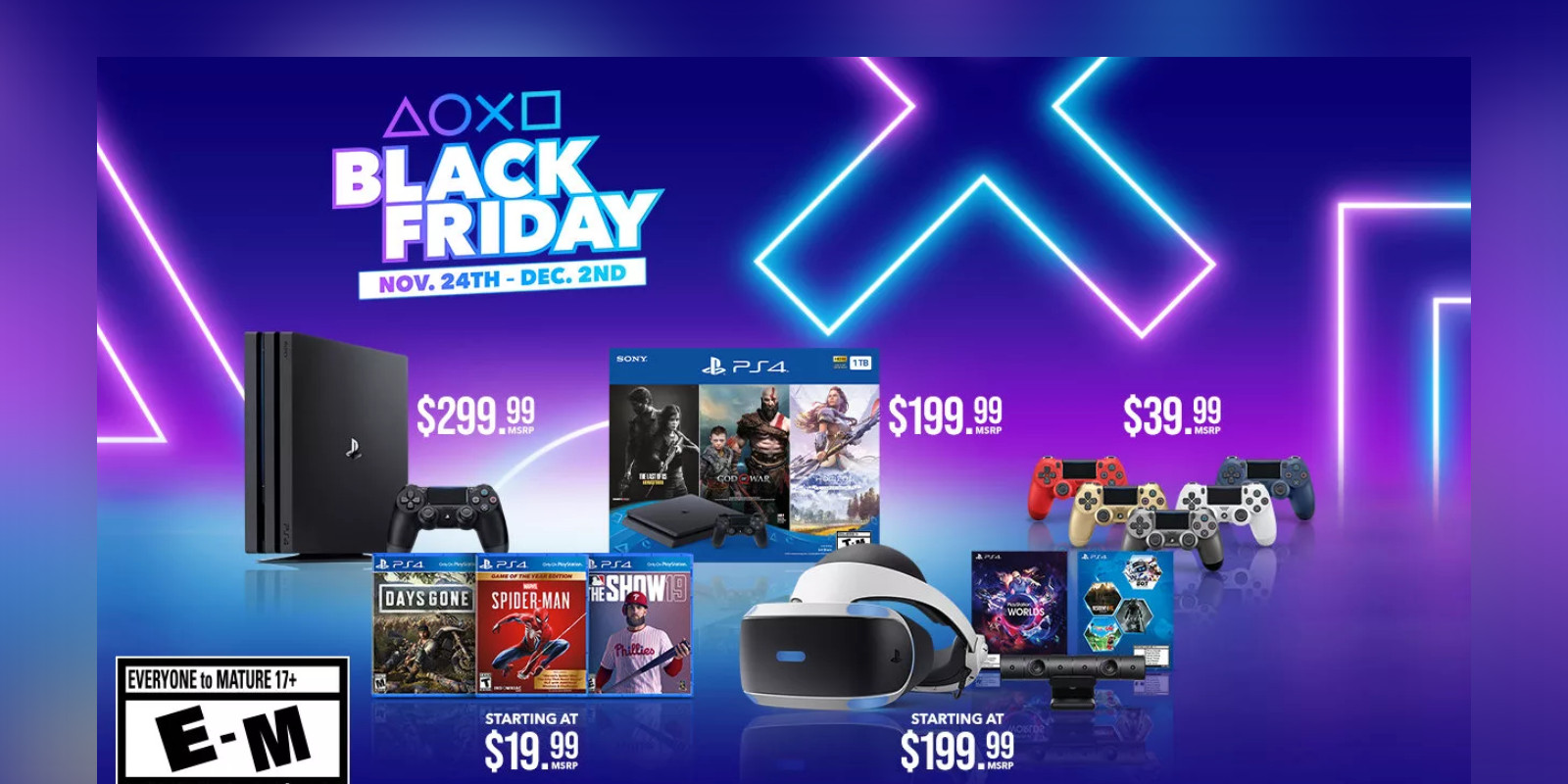 Sony unveils PlayStation Black Friday 2019 deals: Up to $160 off PS4, more