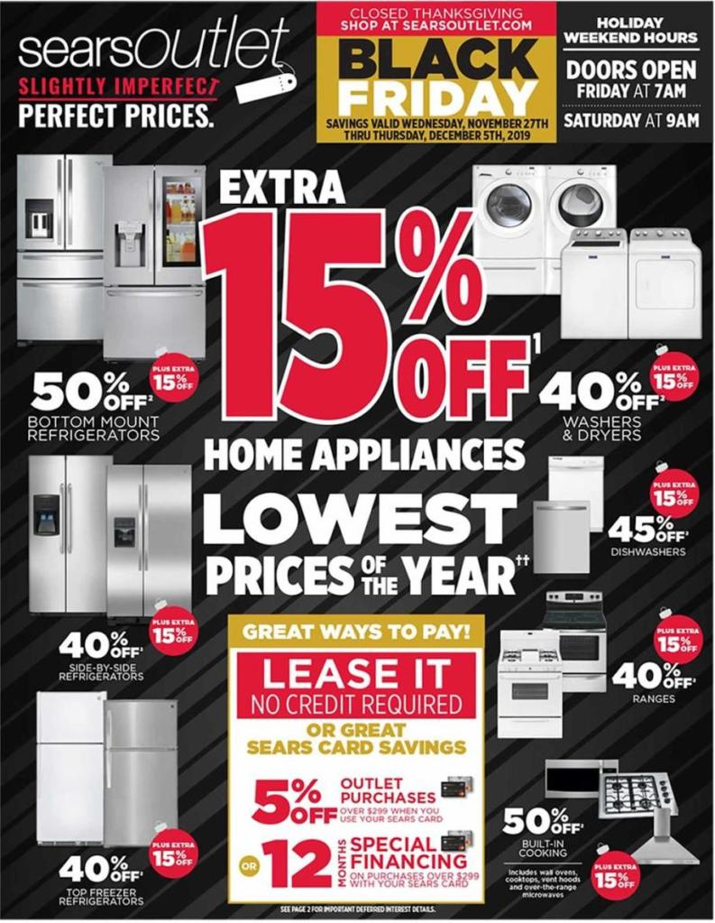 Sears Black Friday 2019 ad page 1