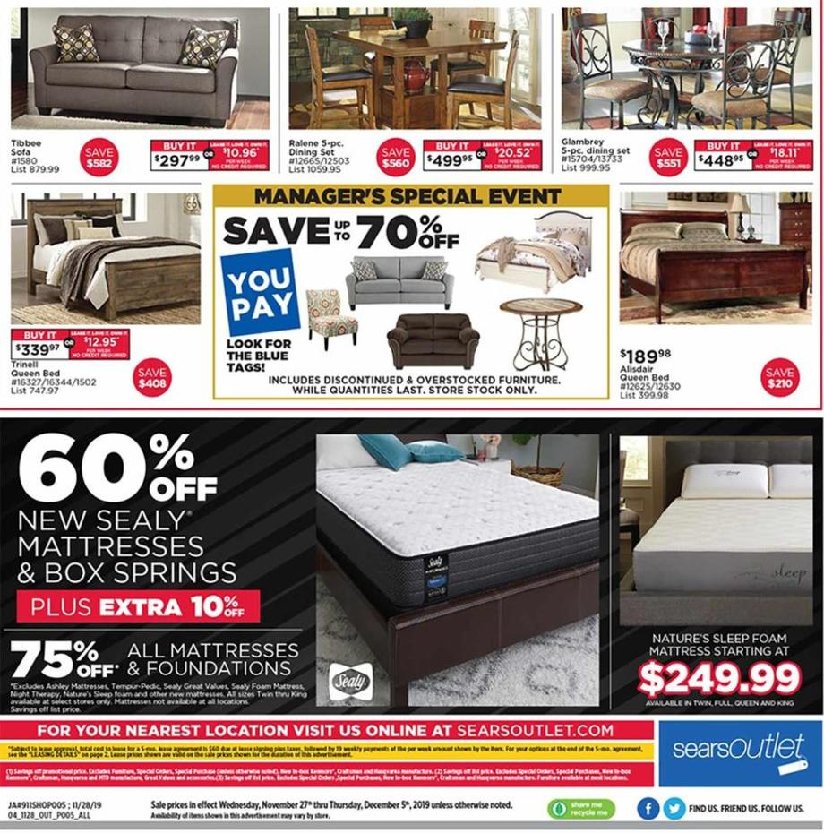Sears Outlet Black Friday 2019 ad page 8