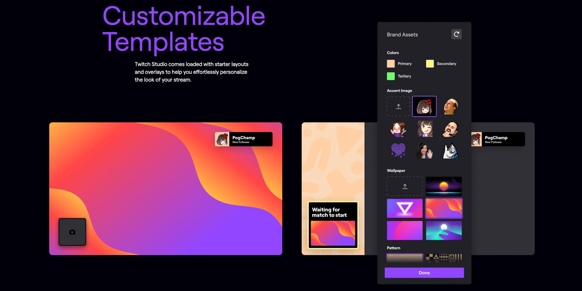 Twitch Studio Customizable Templates