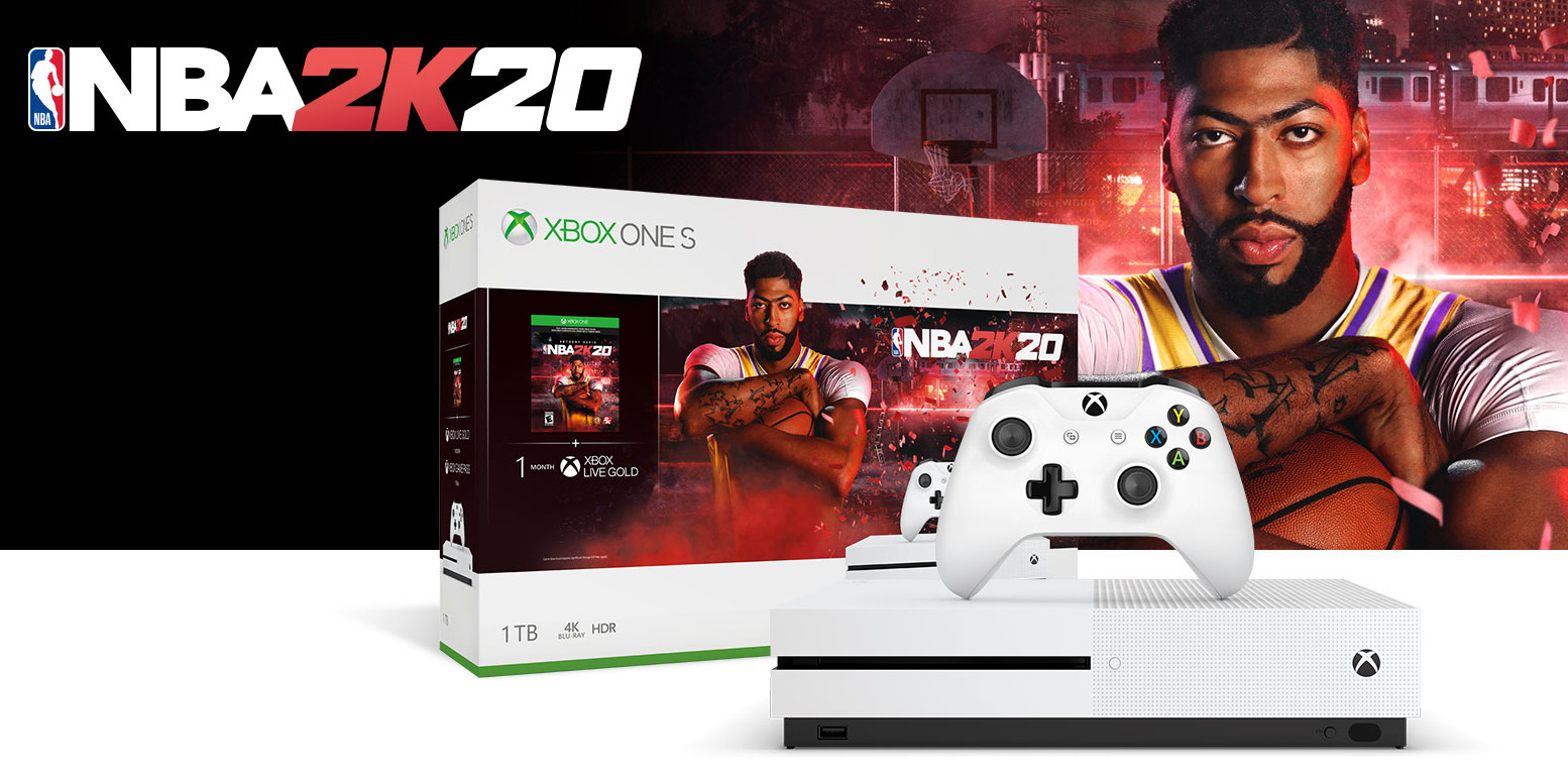 Xbox One S NBA 2K20 bundle + FIFA, Madden NFL 20, more for $299 ($400+ value)