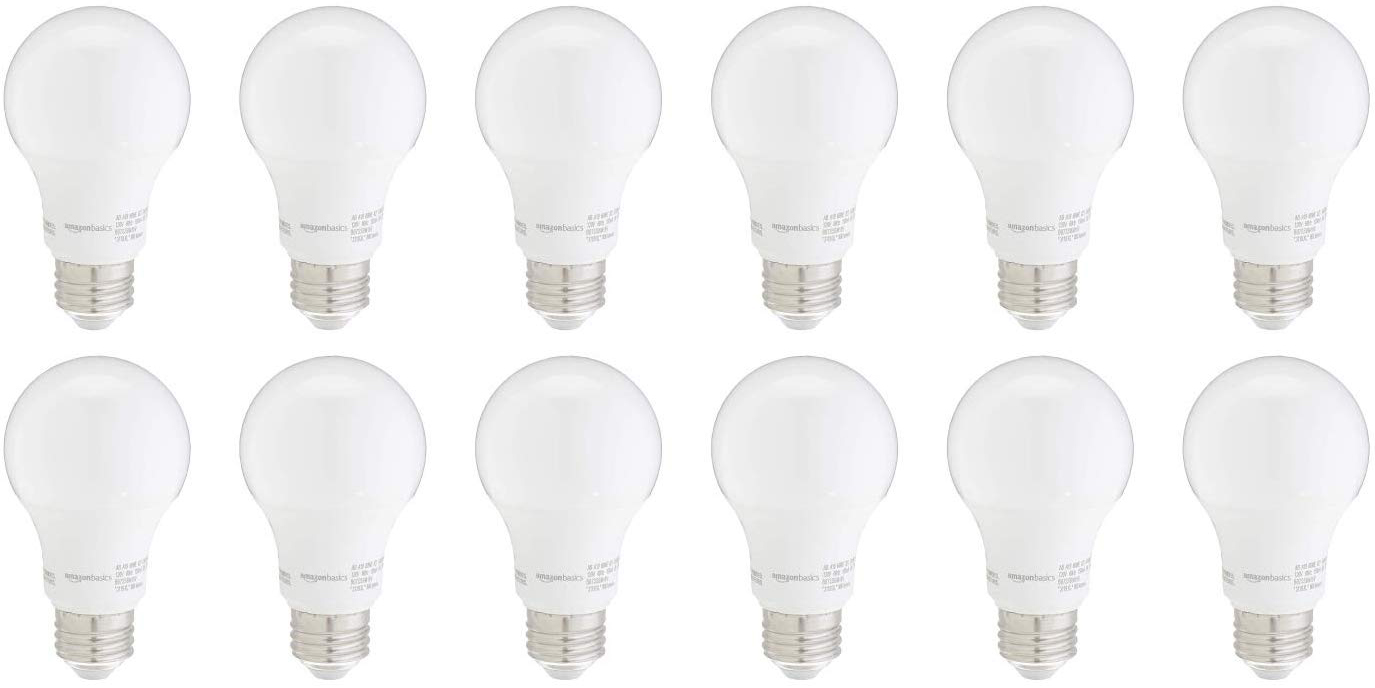 Upgrade to a 6-pack of AmazonBasics 100W Dimmable LED light bulbs for $17