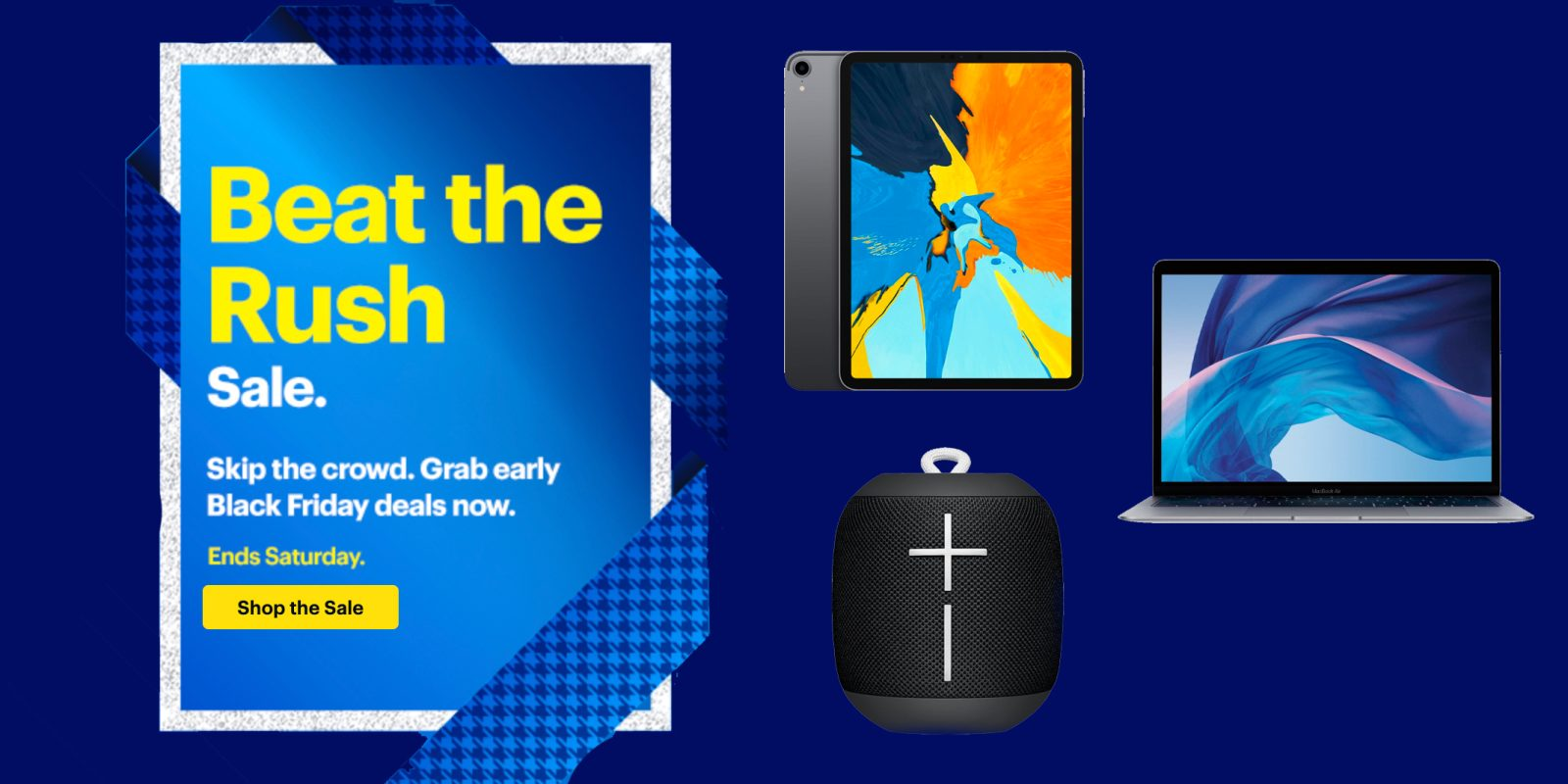 Best Buy Beat the Rush sale offers early deals on iPad Pro, TVs, home audio, more