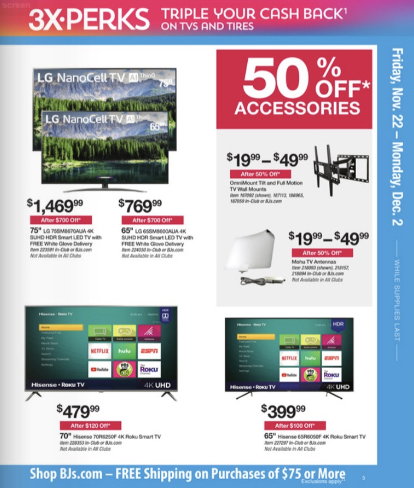 Bj S Wholesale Black Friday Ad Reveals Tv Deals More 9to5toys