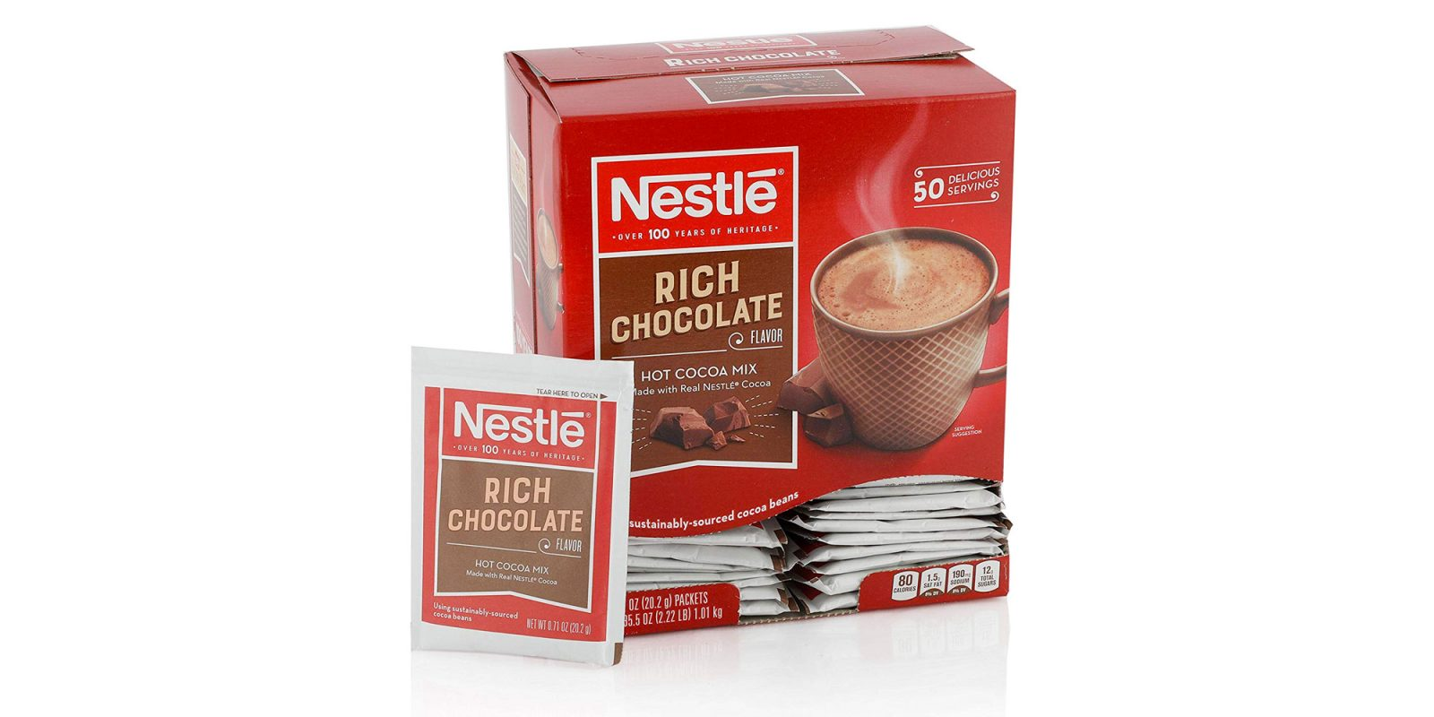 Stay warm with 50 cups of Nestle Hot Chocolate for $0.10 each