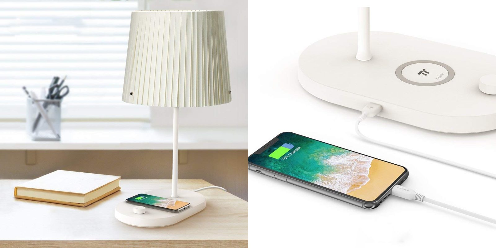 Smartphone Accessories: TaoTronics LED Lamp with 10W Qi Charger $23, more
