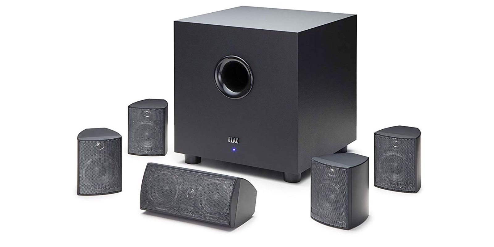 Save over $260 on ELAC's Cinema 5 home theater speaker system, now $139