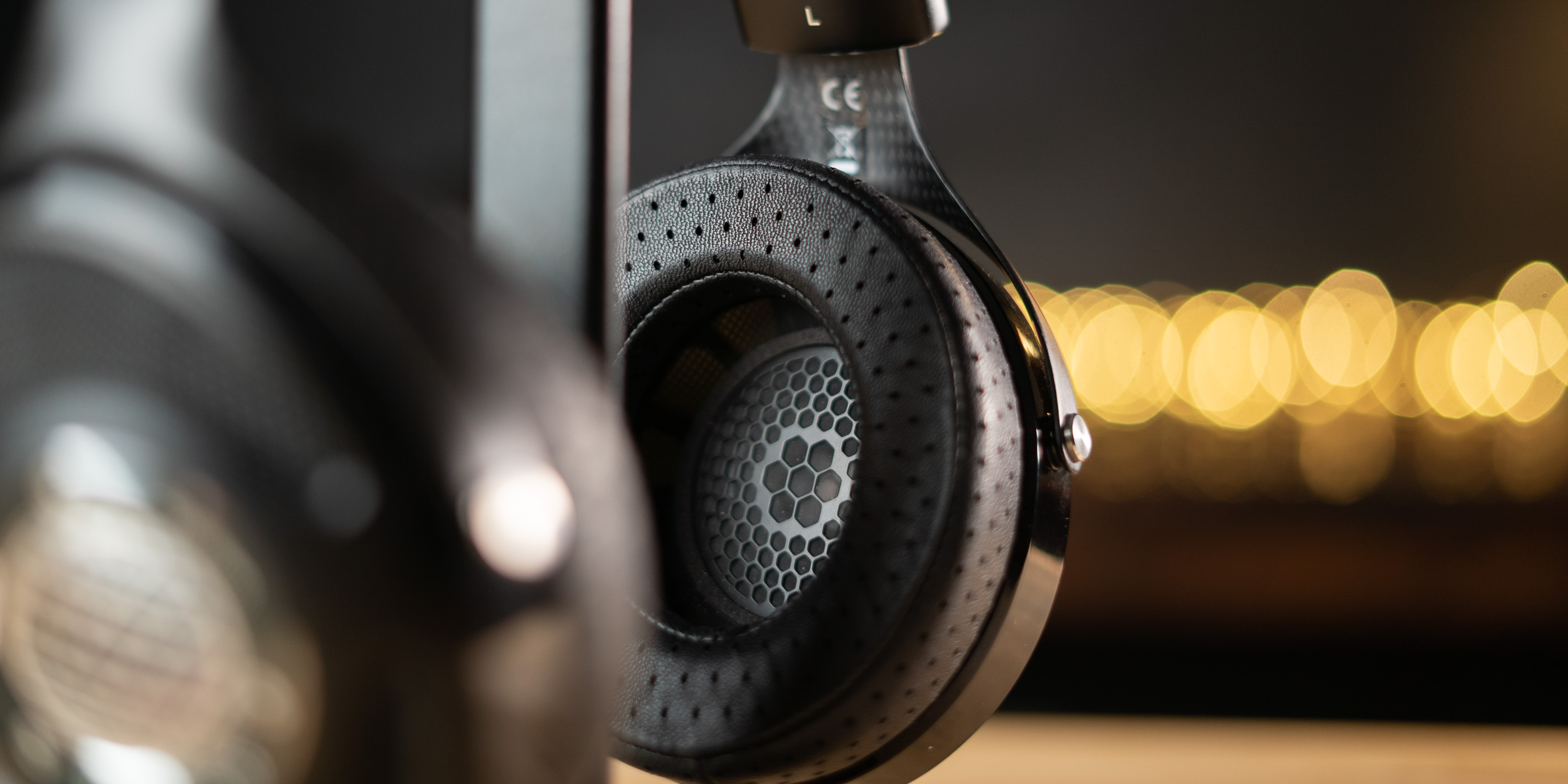 Close-up of earcup on Utopia headphones from Focal
