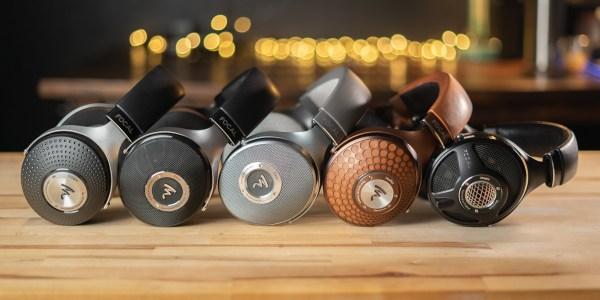 Focal Hi-Fi Headphones lined up on desk