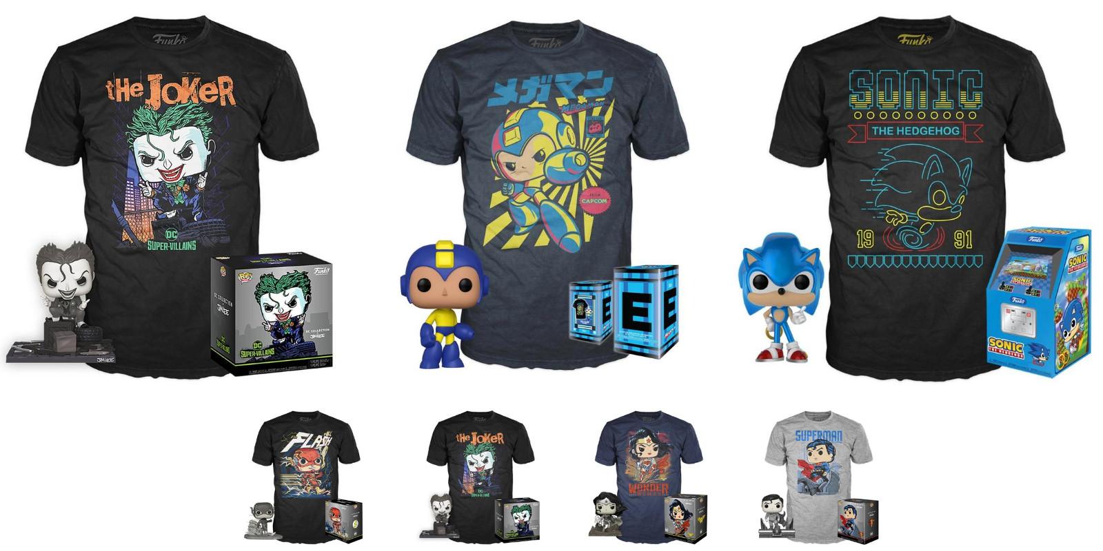 Funko Pop Matching T Shirt For 10 Mega Man Sonic Joker More Reg 30 9to5toys