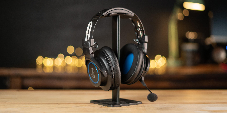 Amazon Choice headphone stand with ATH-G1WL headset