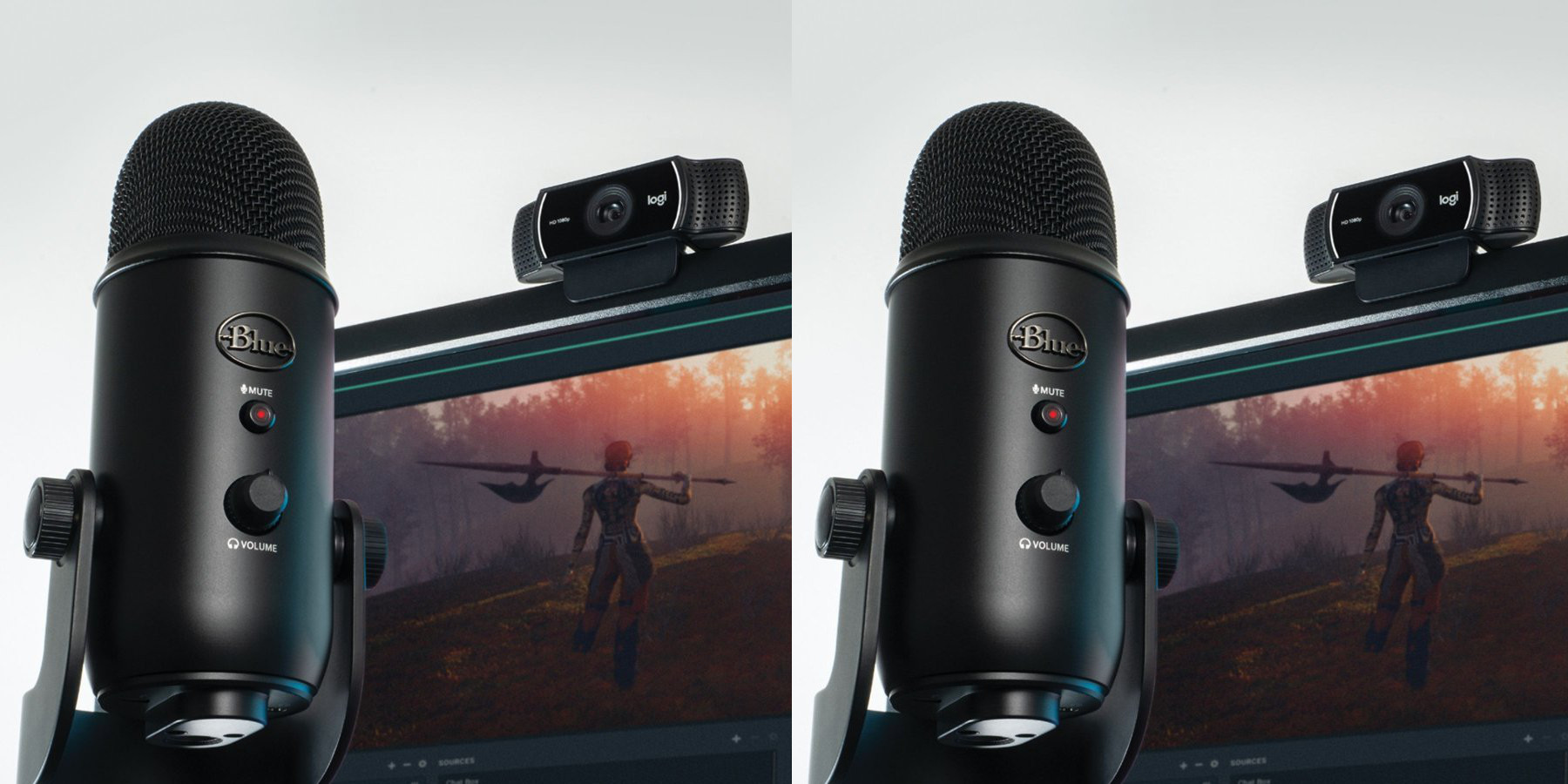 Pro Streamer Pack up to $60 off: Blue Yeti USB mic + Logitech webcam for $120