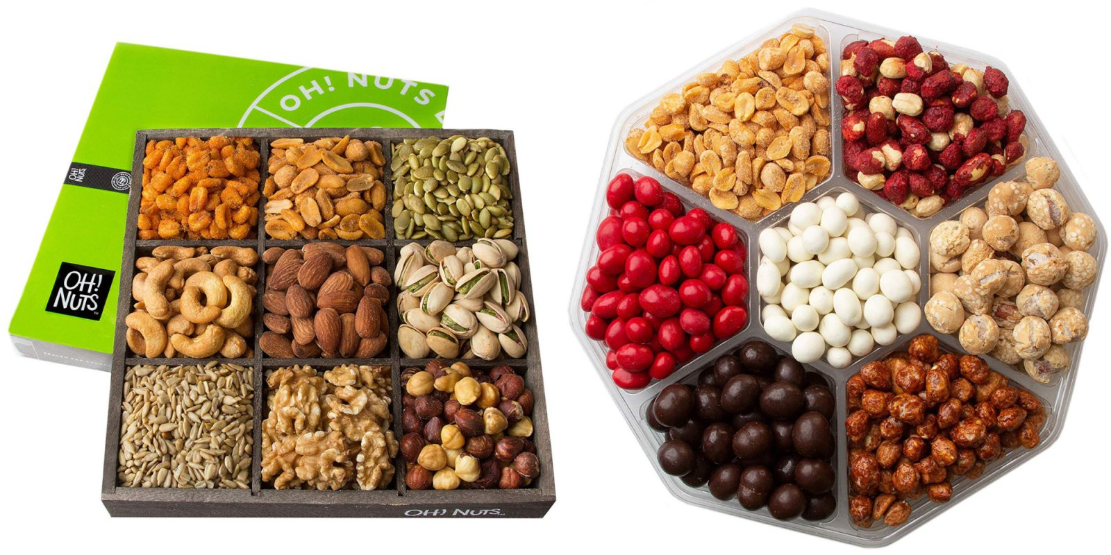 Oh! Nuts snack boxes from $20: Pistachios, chocolate pretzels, more (30% off)