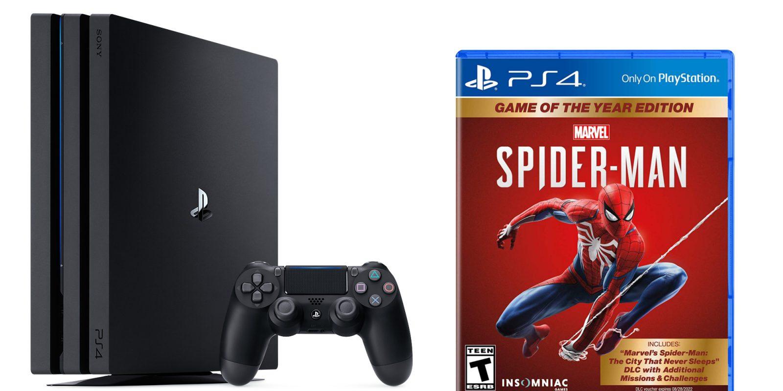 PlayStation 4 Pro 1TB + Spider-Man GOTY gets huge price drop: $280 ($150+ off)