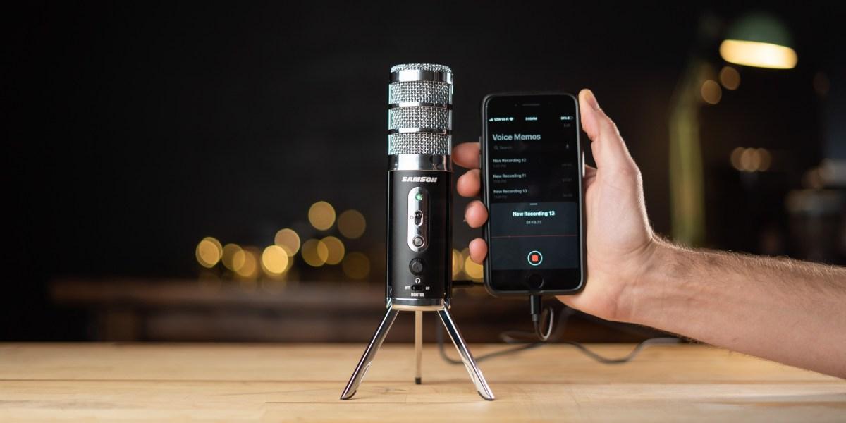 Samson Satellite recording to iPhone