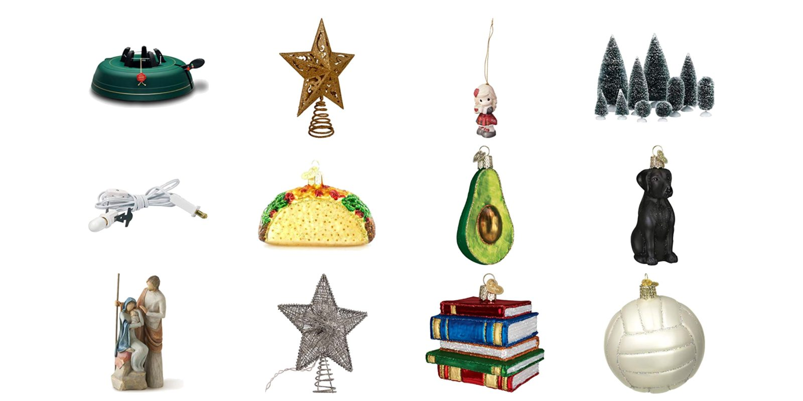 Today's Gold Box has holiday ornaments, tree accessories, more from $5