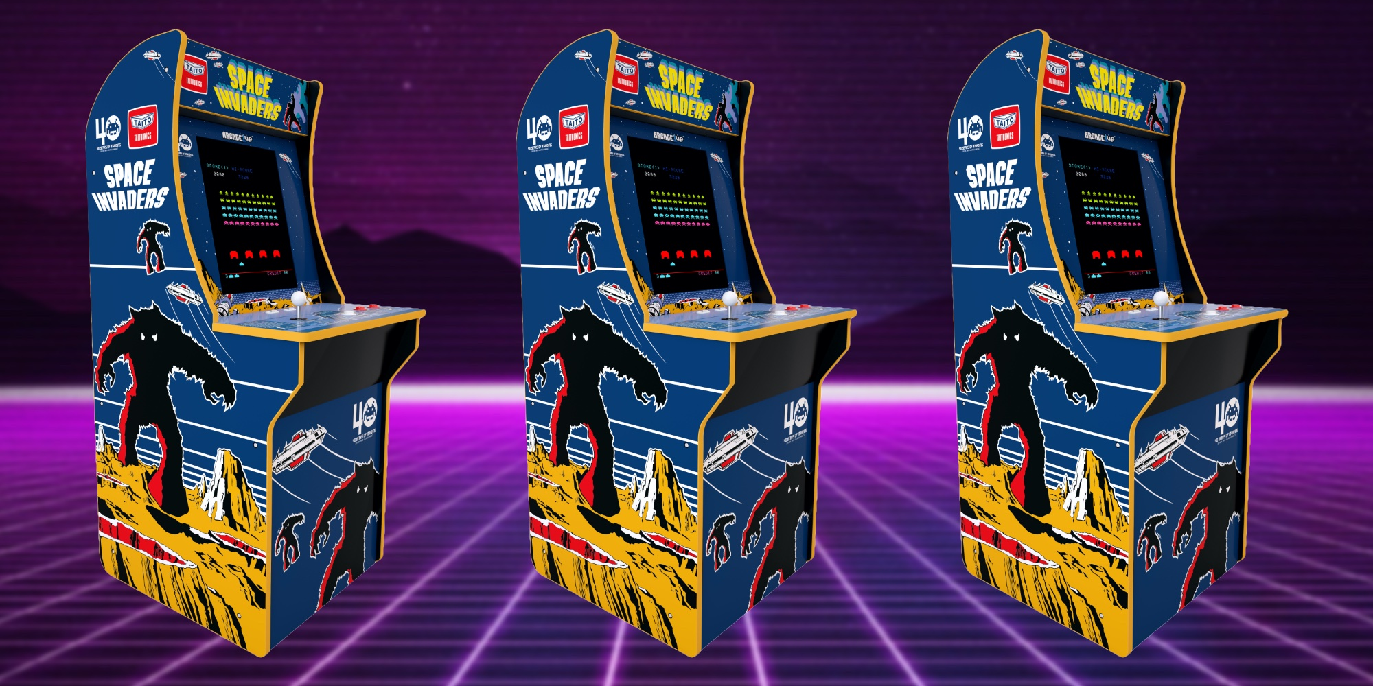 Arcade1up Space Invaders Cabinet Drops To 150 At Walmart 9to5toys