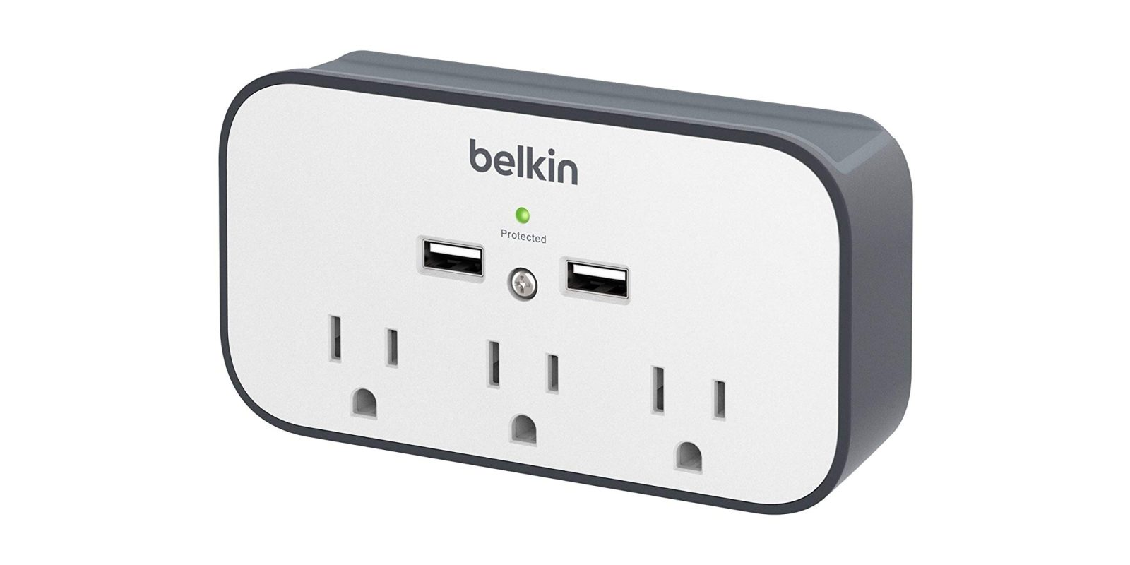 Add 3 outlets and 2 USB ports anywhere with this $16 Belkin surge protector