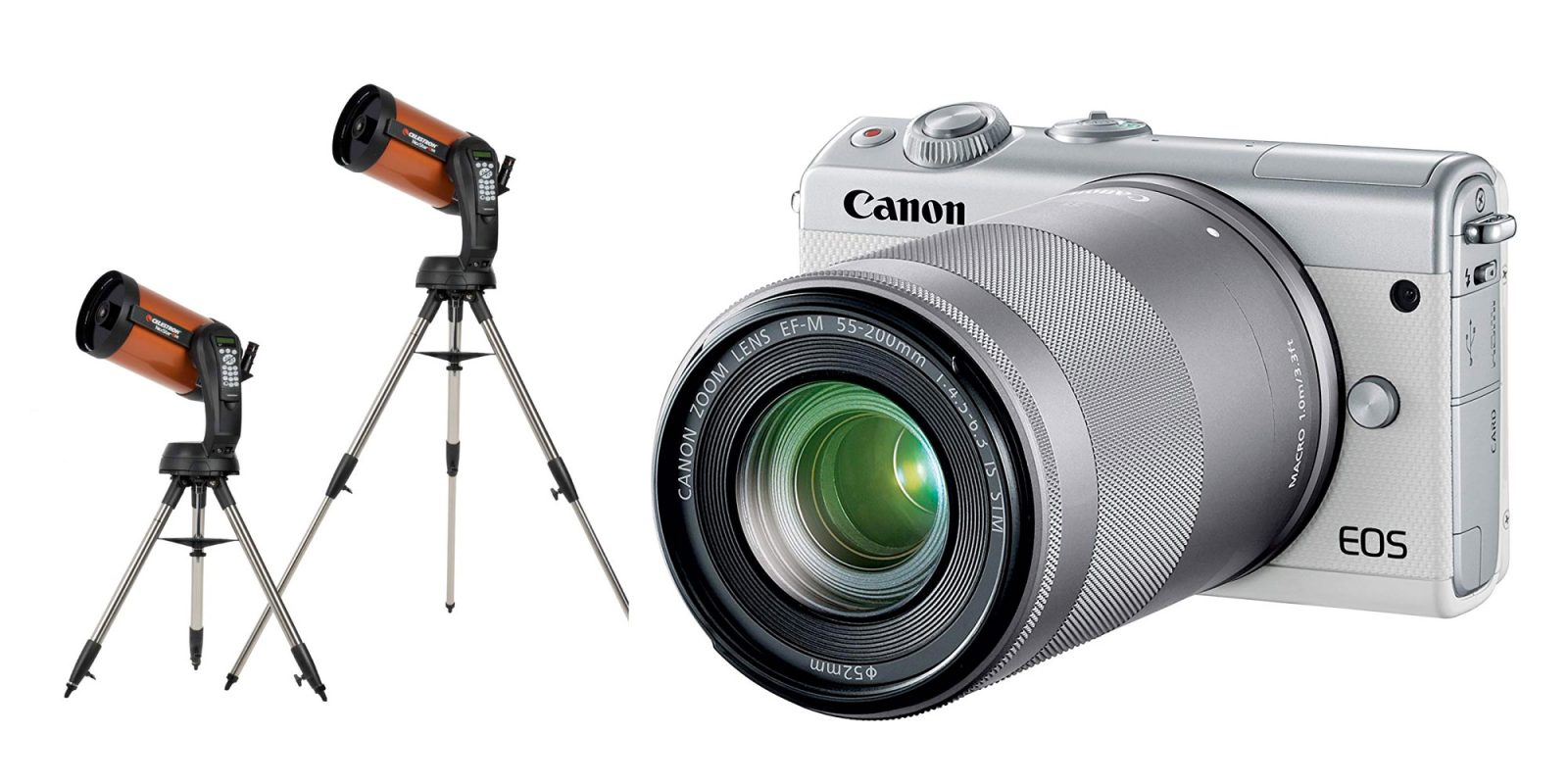 Capture it all with mirrorless cameras, telescopes, and more from $30