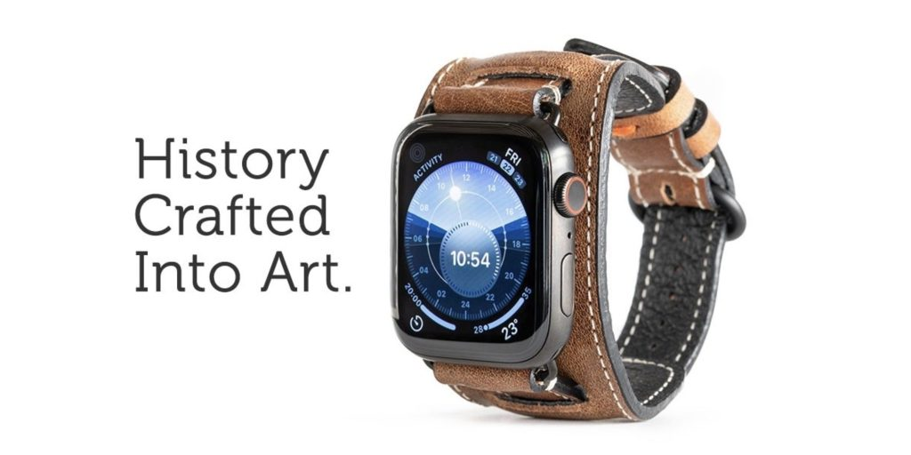 Apple Watch leather cuff Pad & Quill