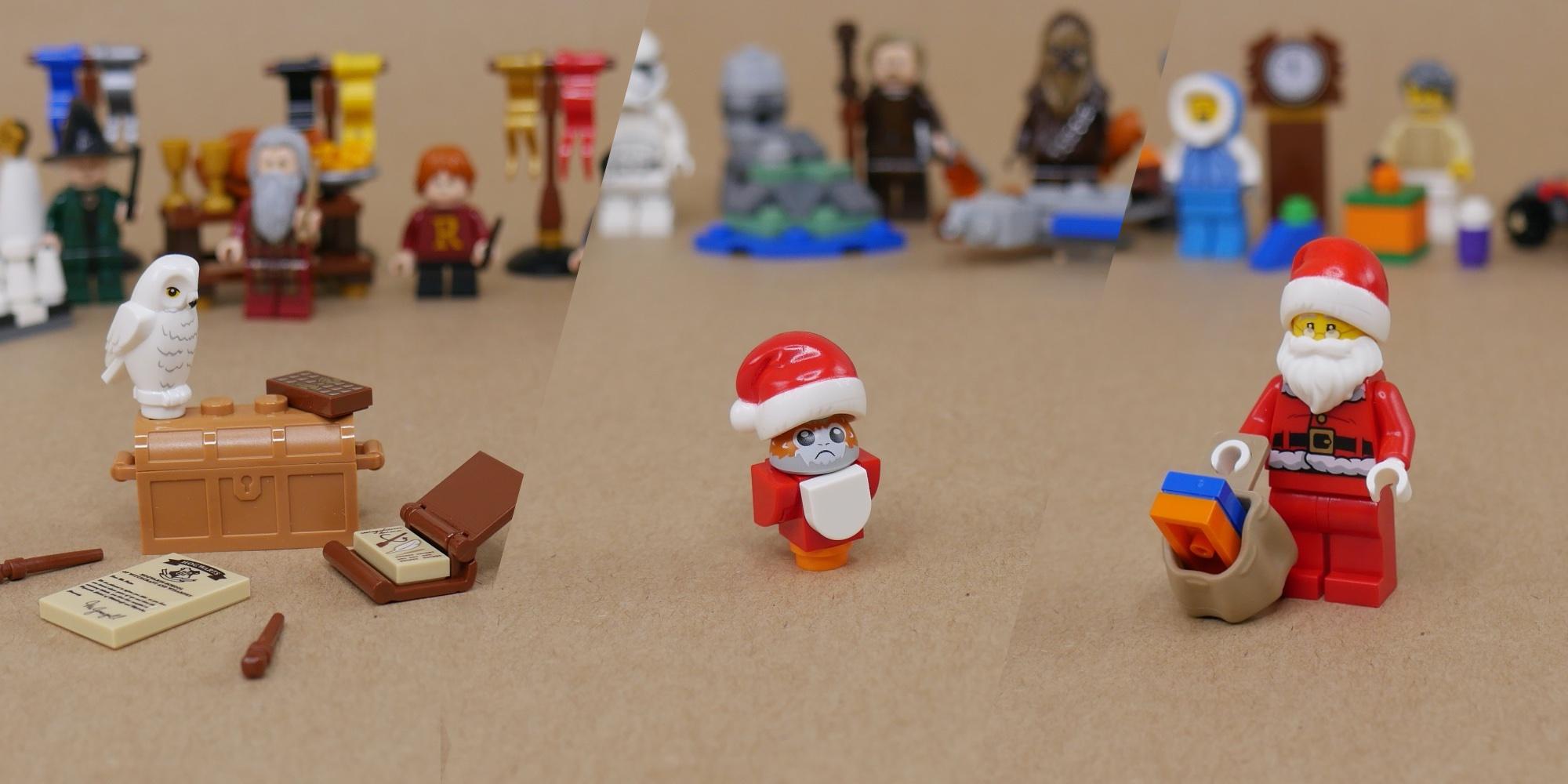LEGO 2 WHITE BEARDS Santa Wizard Minifigure Long Facial Hair
