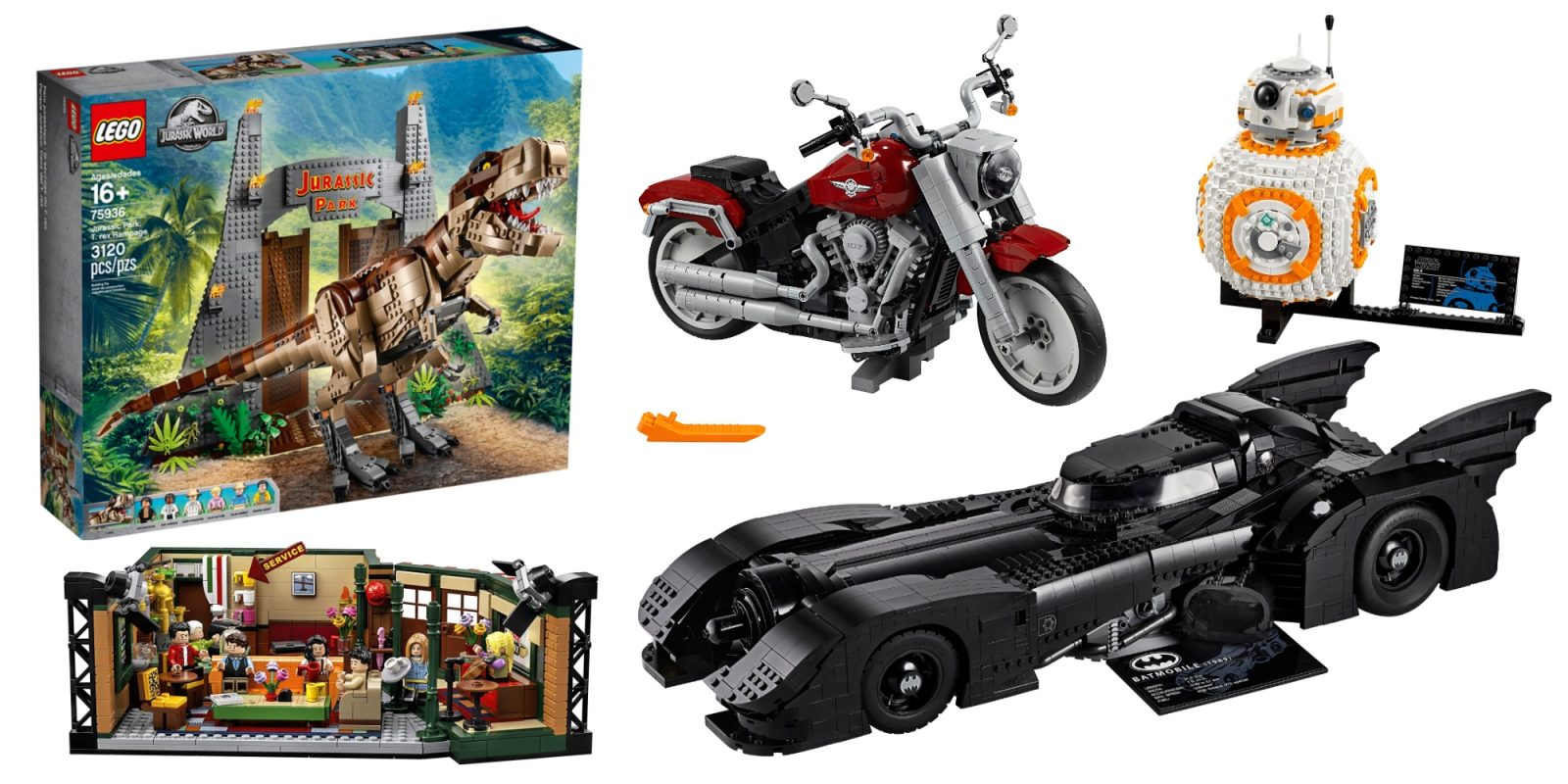 LEGO launches rare extra 30% off sale: 1989 Batmobile $175, Harley-Davidson $70, more