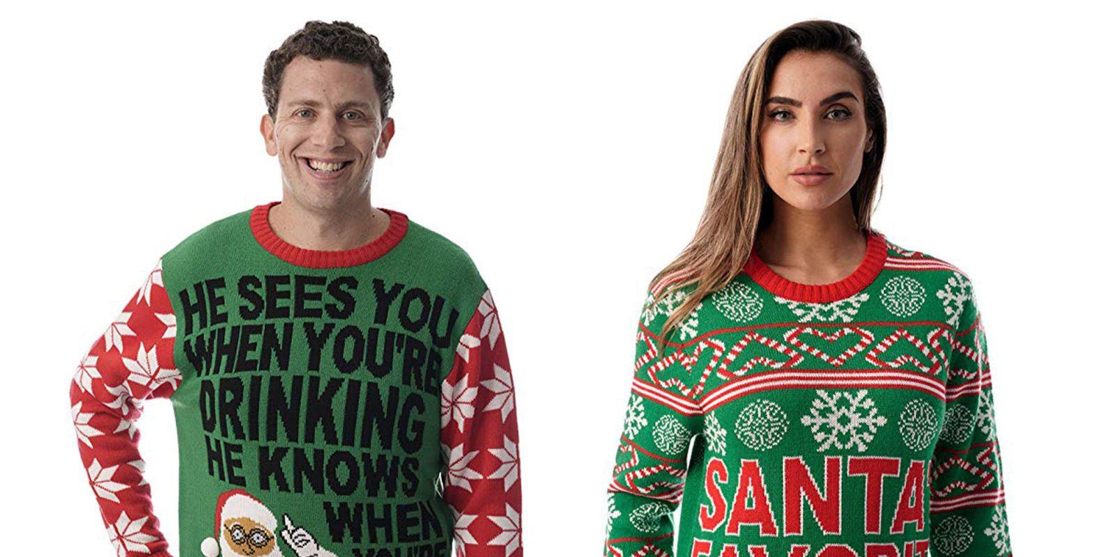 Naughty Christmas sweaters on sale in today's Gold from just $14