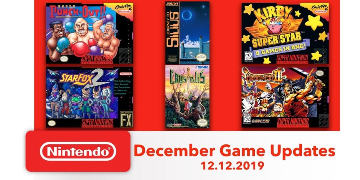 Nintendo Switch Online December