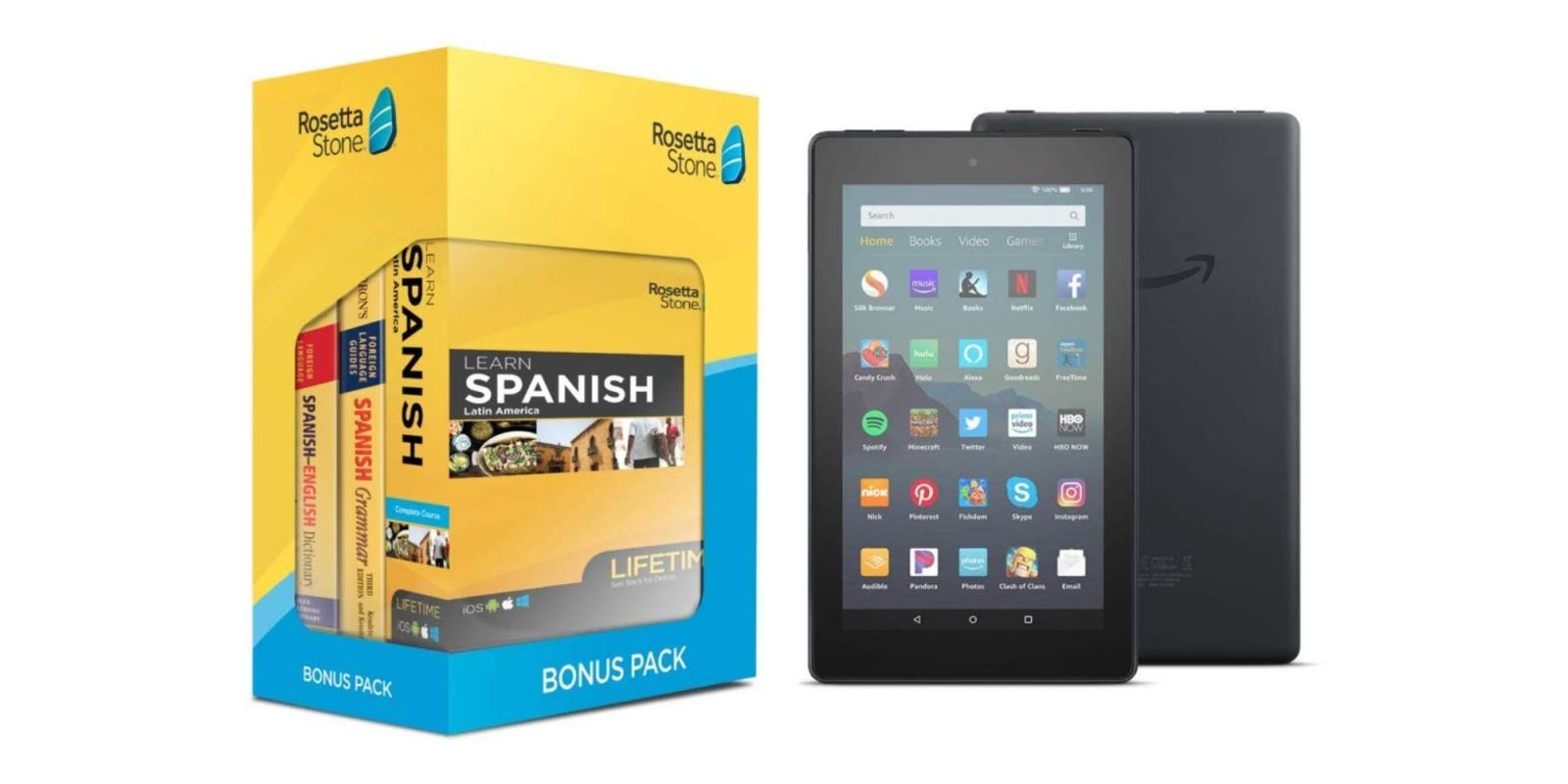 Learn Spanish, German, more with Rosetta Stone's Fire 7 bundle: $150 ($90 off)
