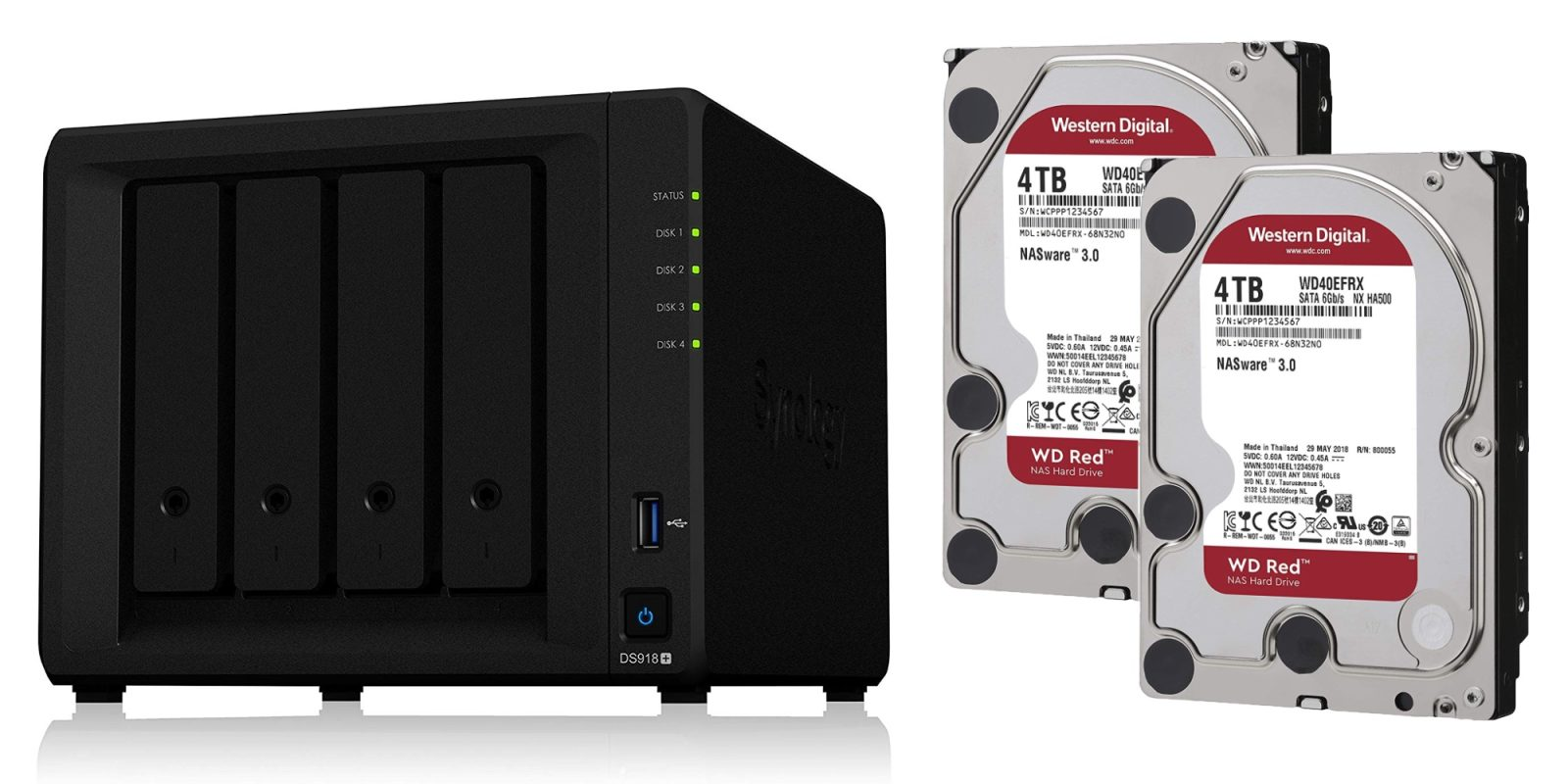 Synology's 4-bay DS918+ NAS comes two 8TB of WD storage at $660 (Save $120)