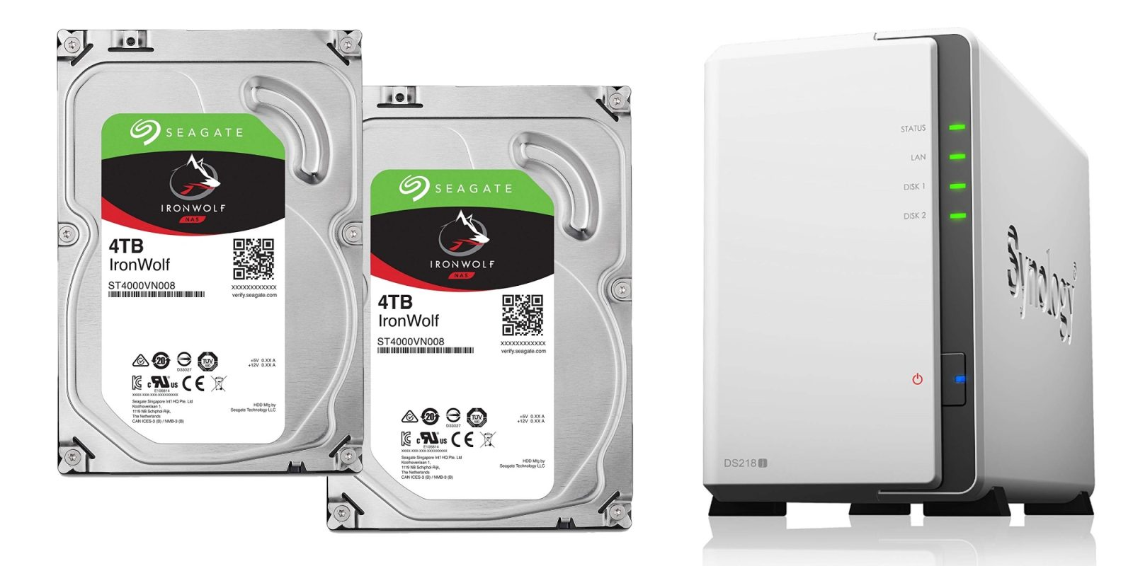 Combo Synology's 2-bay NAS with 8TB of Seagate storage at $310 ($370 value)