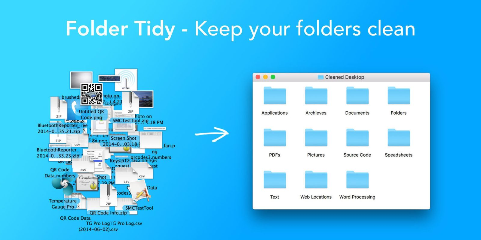 Organize your files with a single-click, Folder Tidy for Mac now $5 (50% off)