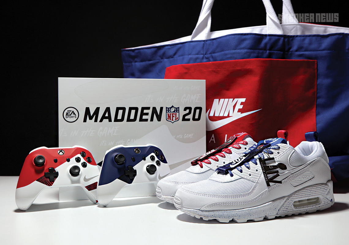 Nike Air Max Xbox console with matching 90s