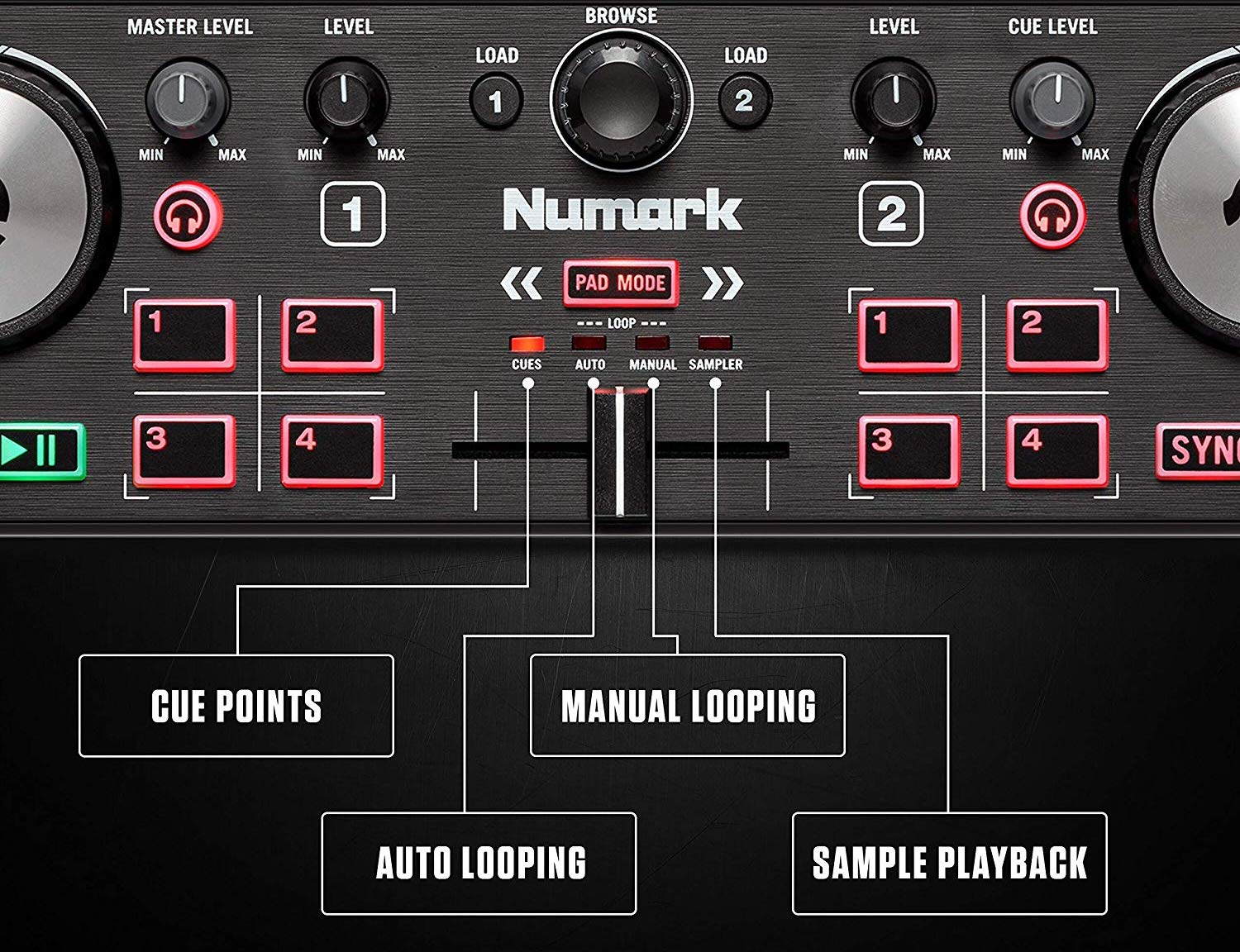 Numark DJ2GO2 Touch affordable DJ controllers