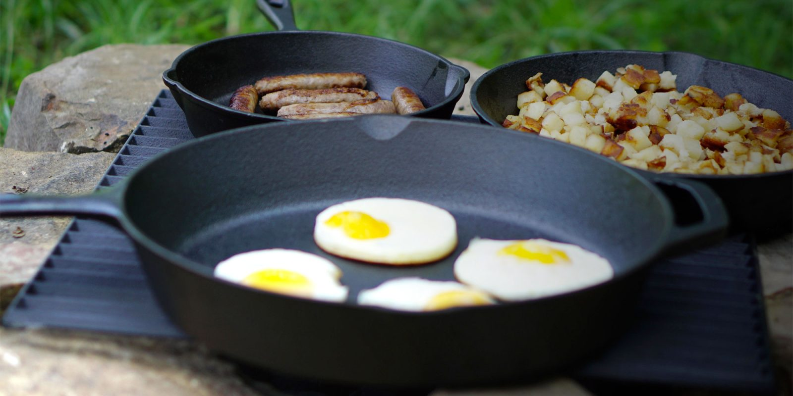 Ozark Trail's three-piece cast iron set gives you skillets for around $6 each