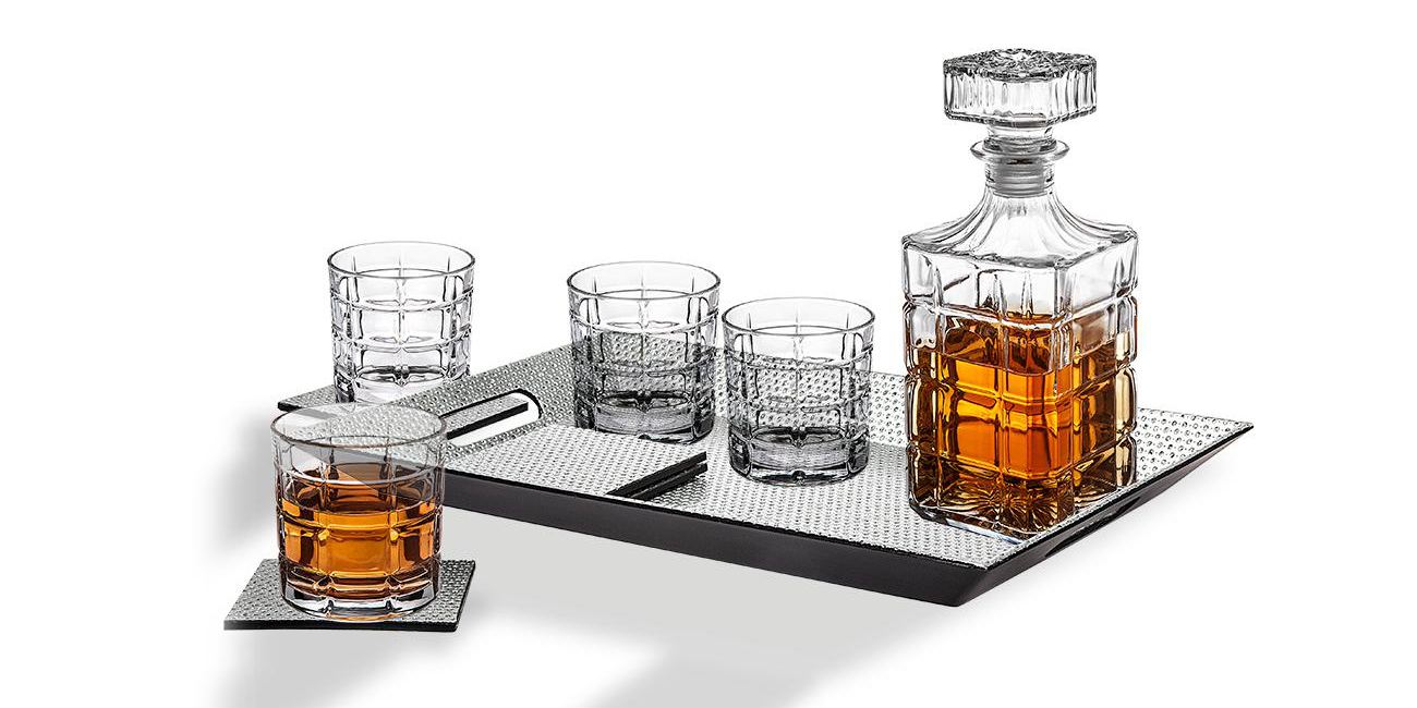 This 10-piece crystal Decanter/Whiskey Glass Set is now $20 (Reg. $60+)