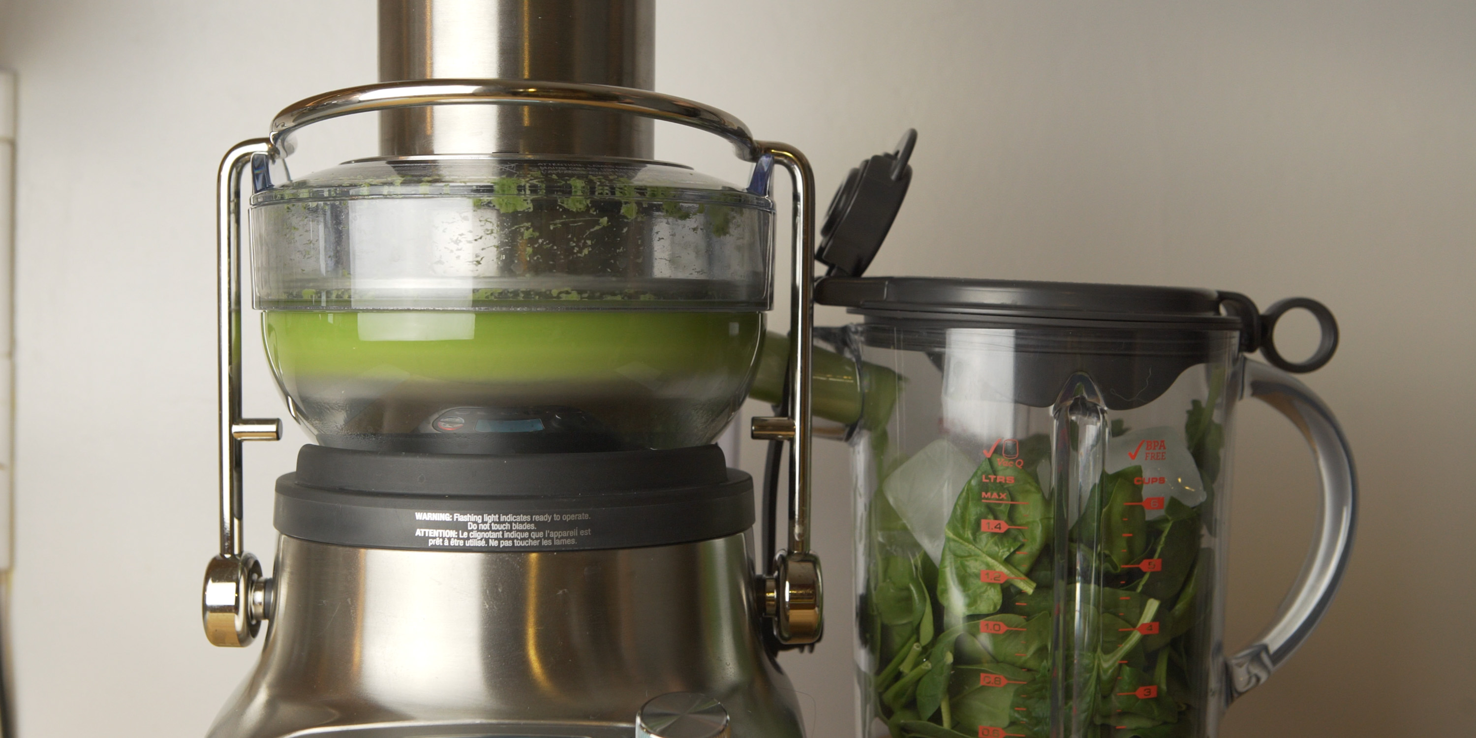 Juicing cucumbers with the 3X Bluicer Pro