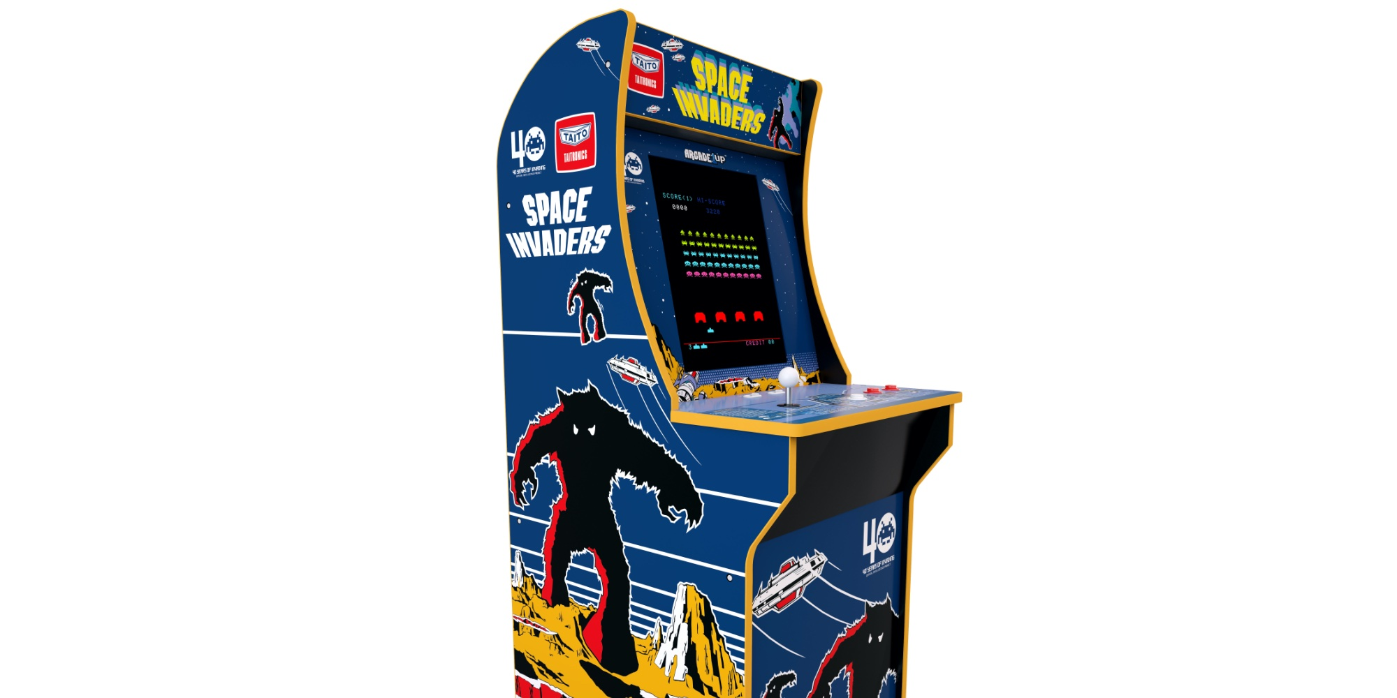 Bring Arcade1up S Space Invaders Cabinet To The Game Room For 150 Save 50 9to5toys