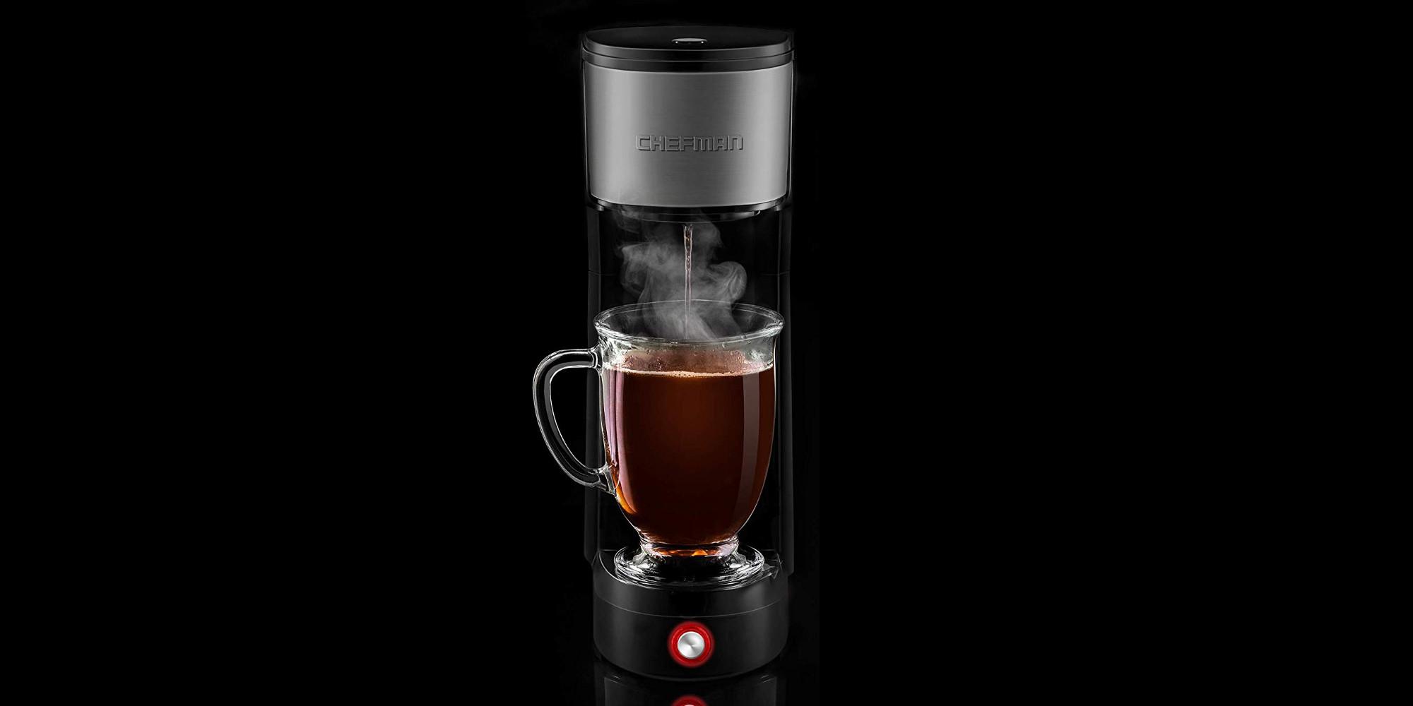 Chefman's slender single-serve coffee maker now $30 for ...