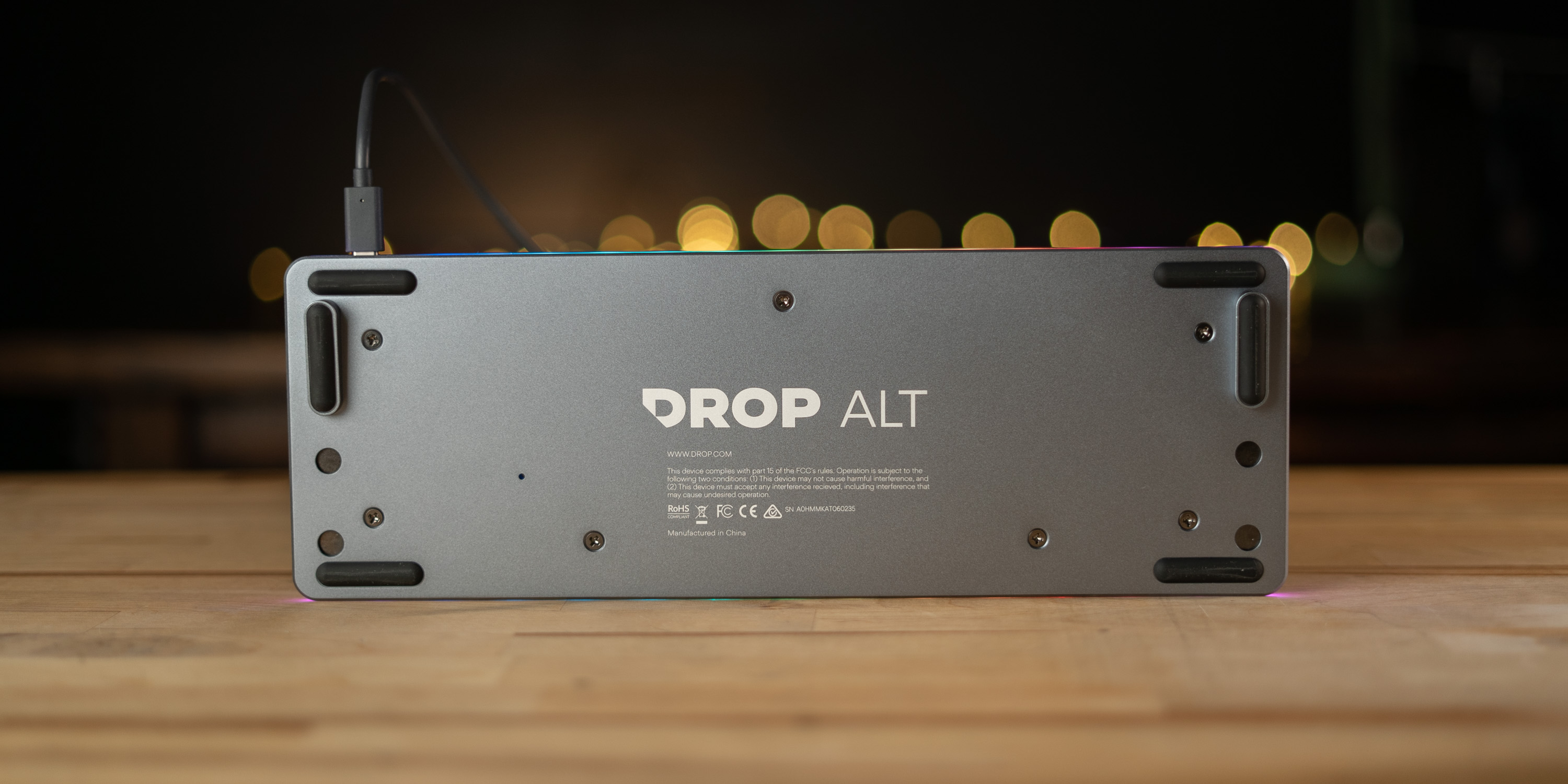 bottom of the Drop ALT keyboard