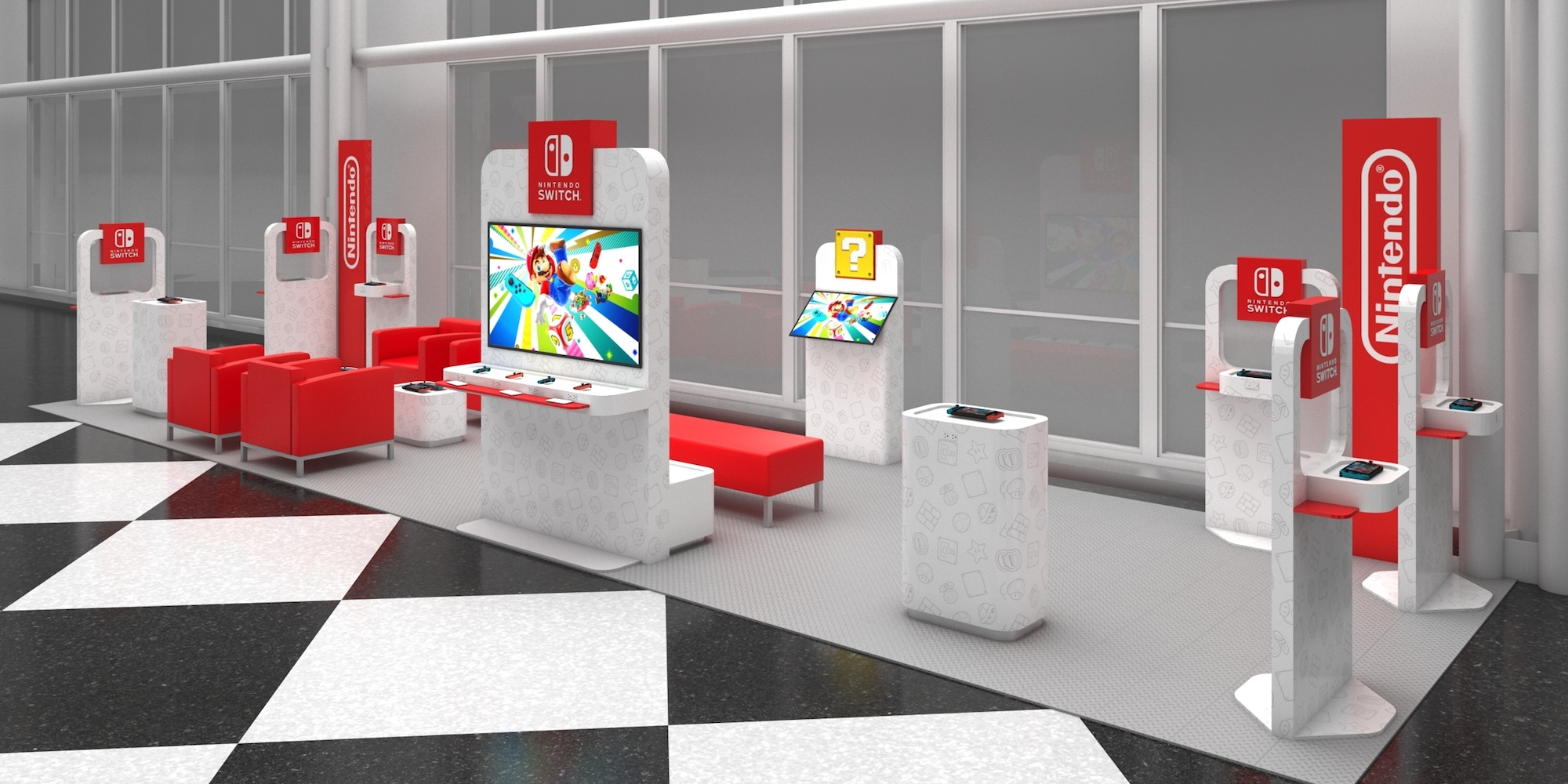 Nintendo airport lounge offers free gear, charging ports, more - 9to5Toys