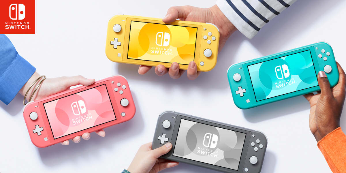 Coral Pink Switch Lite console